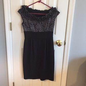 Black and grey cocktail dress size 2P